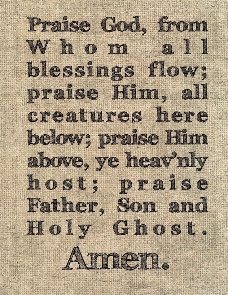Doxology typography print Christian song lyrics hymn benediction prayer praise prayer unique birthday gift Bible study group present pastor by JenniferDareDesigns on Etsy