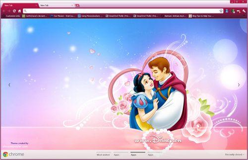 Snow White and Prince Charming Google Chrome Theme