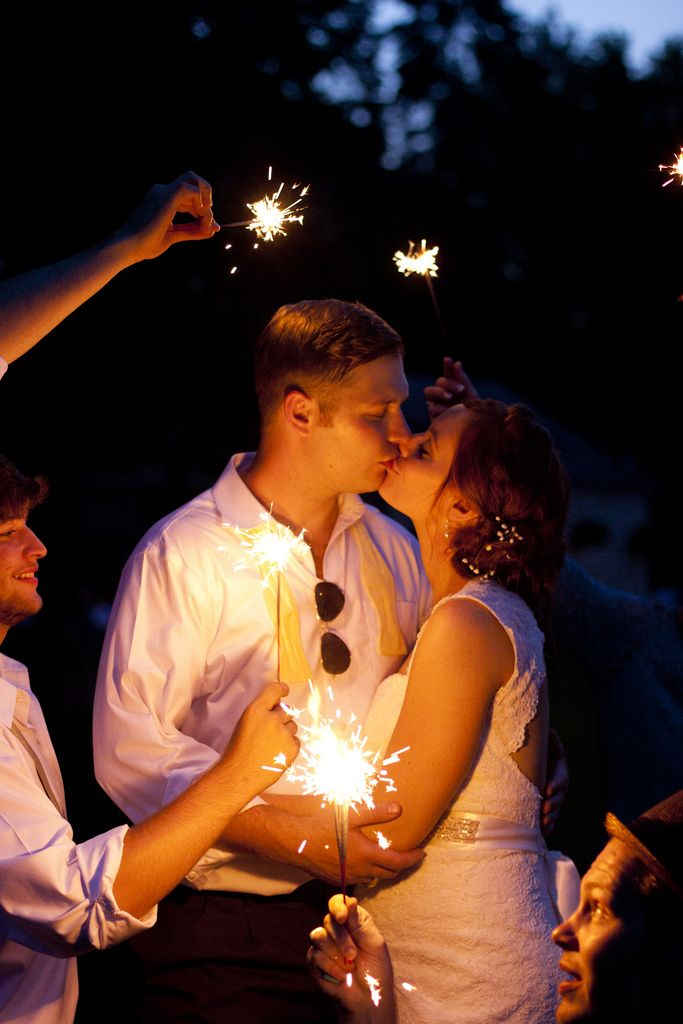 We were so excited for this sparkler photo for Jessy and Nick's wedding. It fits their personalities perfectly | Eat Pomegranate Photography