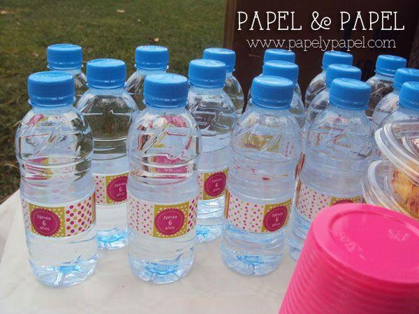 etiquetas para botellines de agua