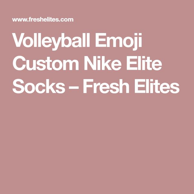 Volleyball Emoji Custom Nike Elite Socks – Fresh Elites
