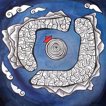 "Saatchi Art Artist Esra Kizir Gokcen; Painting, ""Circling"" #art"