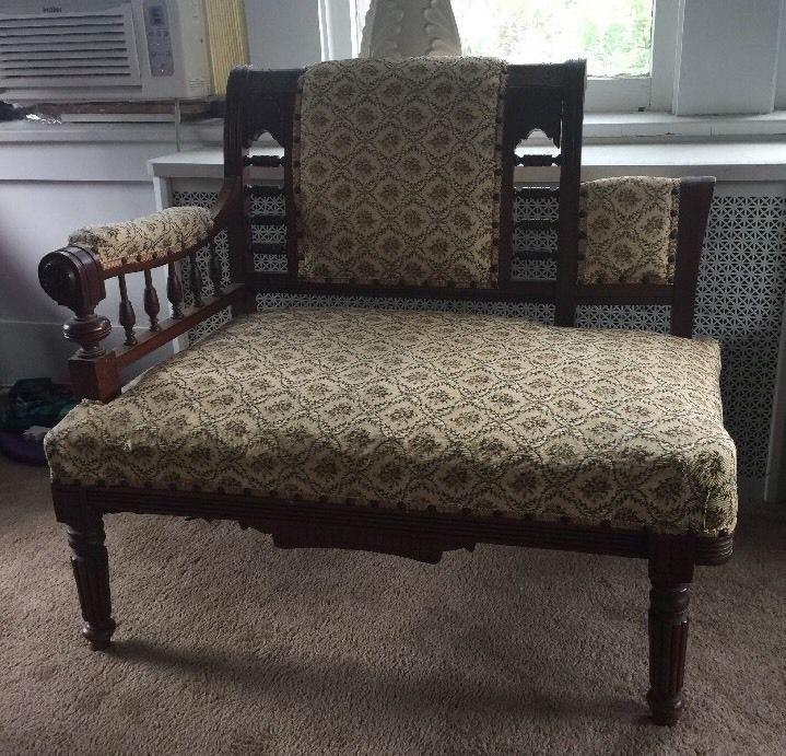 Details About Antique Eastlake Victorian Carved Walnut