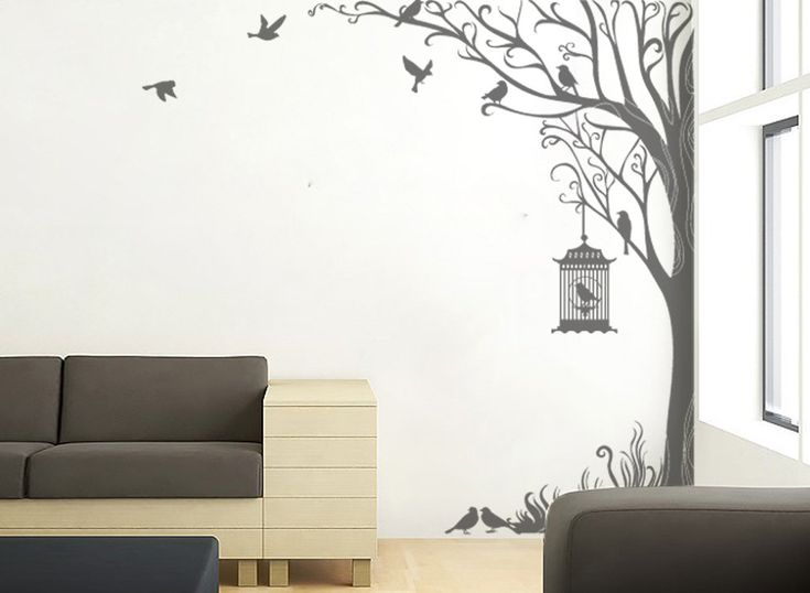 Nature Wall Decor Stickers : Tree decal wall stickers nature decals home decor inch