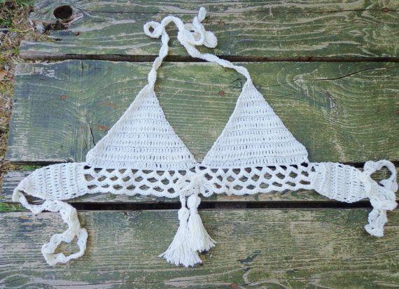 Fishnet Crochet Bikini. by byrosali on Etsy