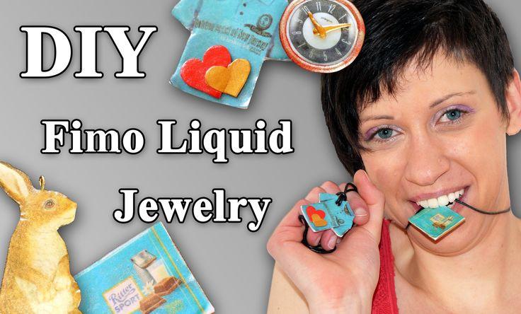 FIMO Liquid Schmuck: Polymer Jewelry - Tutorial [HD/DE] (EN-Sub)