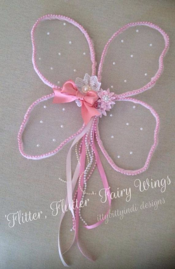 Flitter Flutter Fairy Wings handmade pretty pink lace shabby chic girls fairy princess party photography prop on Etsy, $49.95 AUD