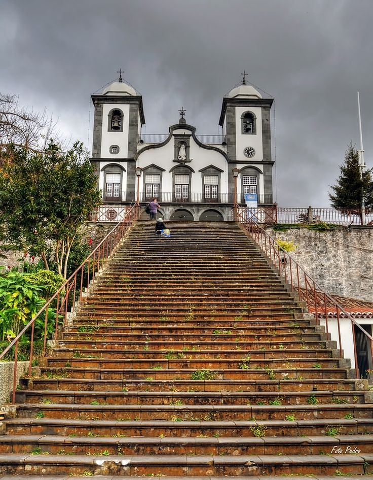 Beautiful church in Monte, just above Funchal. Nossa Senhora do Monte church, Funchal, Madeira island