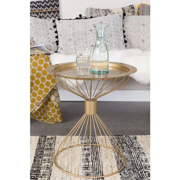 wundrschner beistelltisch in gold und feinem design der clou dabei die tischplatte ist abnehmbar - Fantastisch Einrichtungsstile 2015