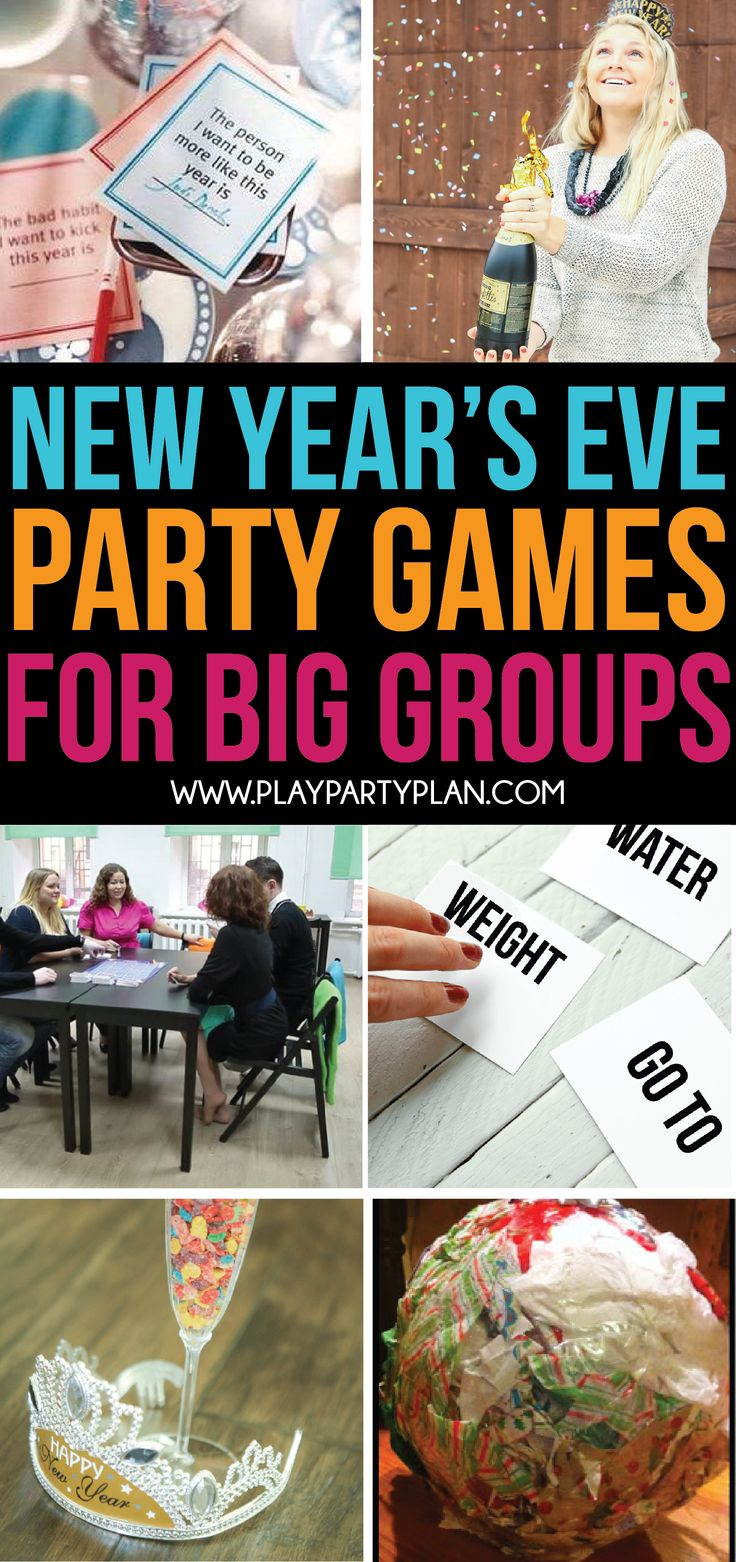 Looking for New Year's Eve games for big groups? This list is full of hilarious New Year's Eve party games for adults, kids, and more!