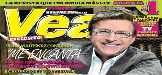 Revista Vea: Jairo Martínez admite ser bisexual