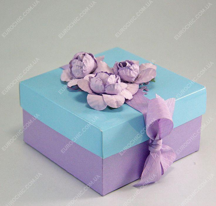 Коробочка для денежного подарка Сиреневые цветы