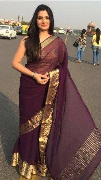 Chitra tripathi   anchor   Pinterest   Saree, Anchor and ...