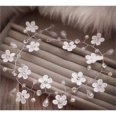 Hårband/Blommor/Pann-smycken/Kransar ( Spets/Imitation Pärla/Chiffong , Spets/Imitation Pärla/Chiffong ) - i Imitation Pärla – SEK Kr. 84