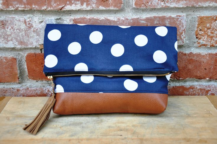 Dotted foldover clutch