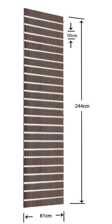 1/2 Πάνελ Slat 61x244cm με 23 Πηχάκια Αλουμινίου