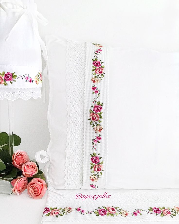 Cross stitch rose borders @ayseegullce