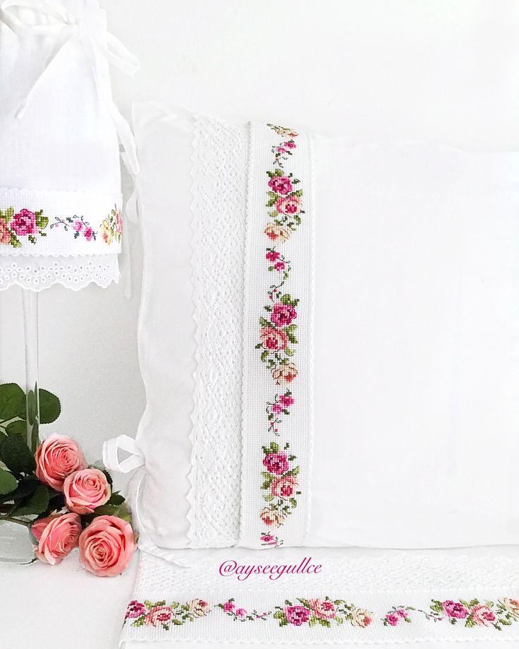 Cross stitch rose borders @ayseegullce
