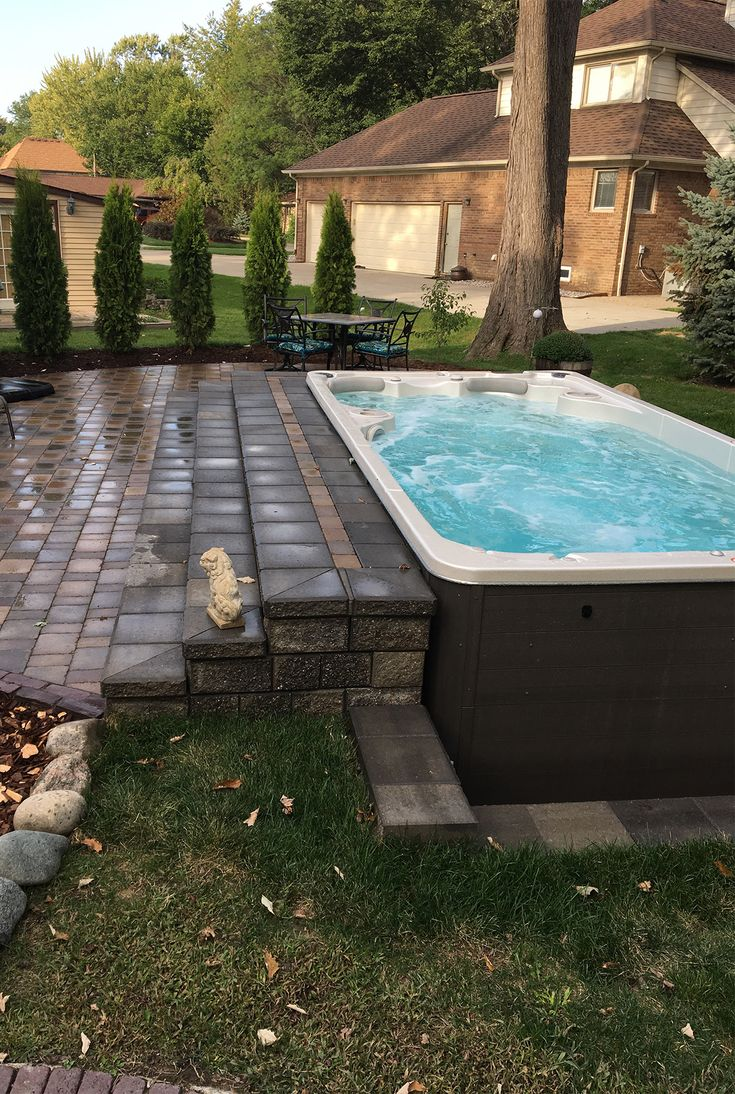 Best 25 pool prices ideas on pinterest swimming pool prices building stairs leading up to your swim spa can give you the inground pool look solutioingenieria Choice Image