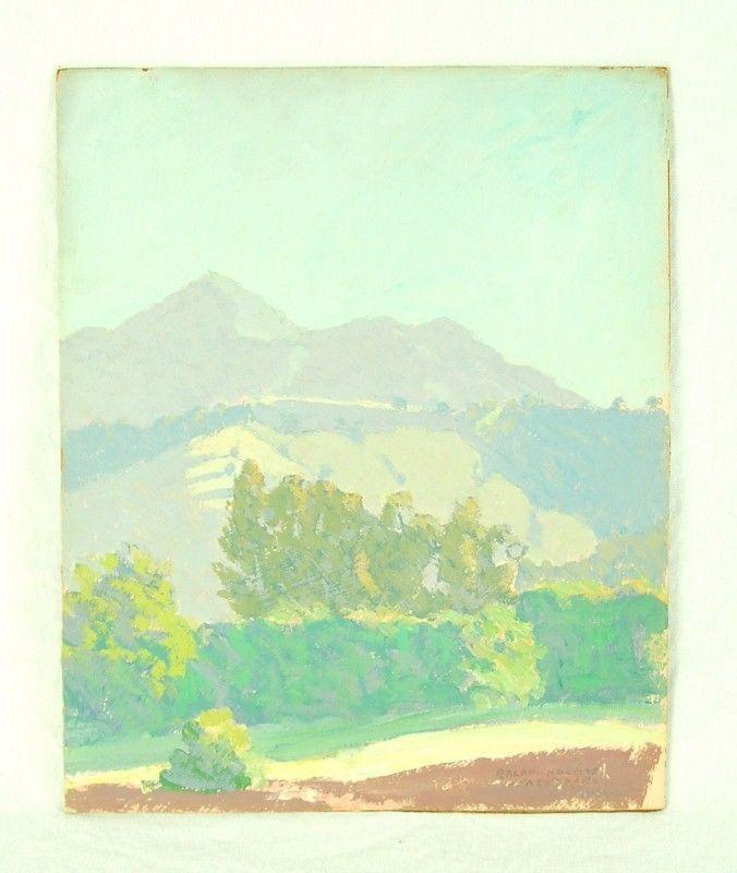 Vintage Atascadero California Landscape Oil Painting Ralph William Holmes #Impressionism