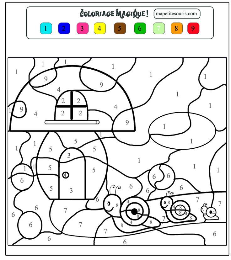 Les 25 meilleures id es de la cat gorie coloriage chiffre - Coloriage avec des chiffres ...