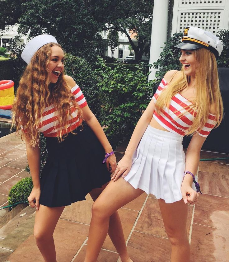 Not sure what to be for Halloween this year? Dressing up like sailors is such an easy costume that you can throw together with items you may already have in your closet.