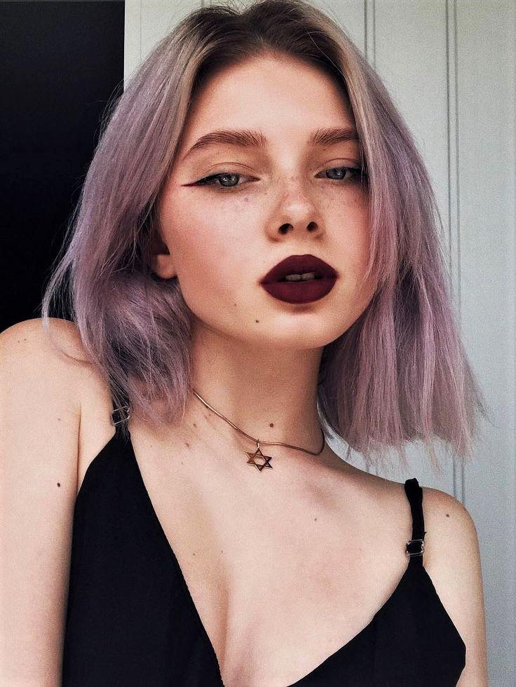 Soft lilac dye hair by polusladkoye - #haircolor #hairdye #hairstyle