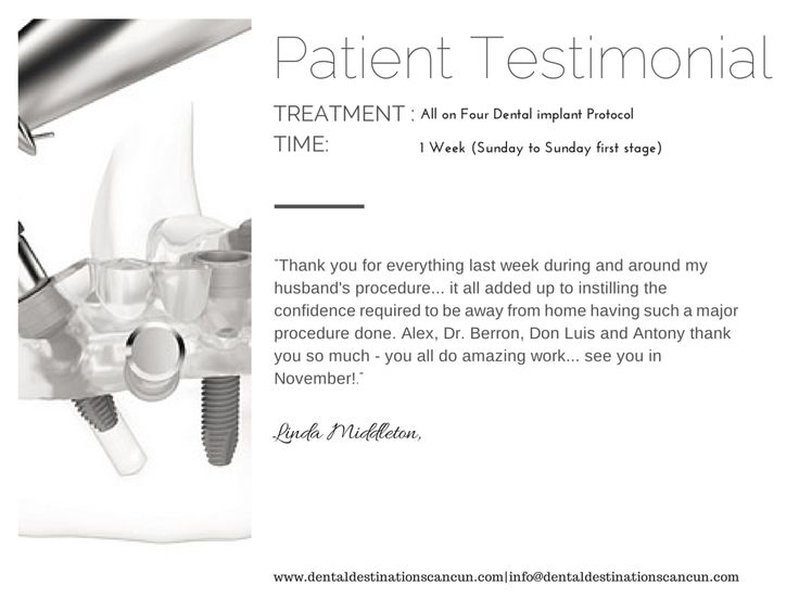 Cancun dentist Reviews Try us ~ We Exceed our patients expectations and will do the same for you! #Patientscomefirst #Dentaltourismmexico #patienttestimonials www.dentaldestinationscancun.com info@dentaldestinationscancun.com