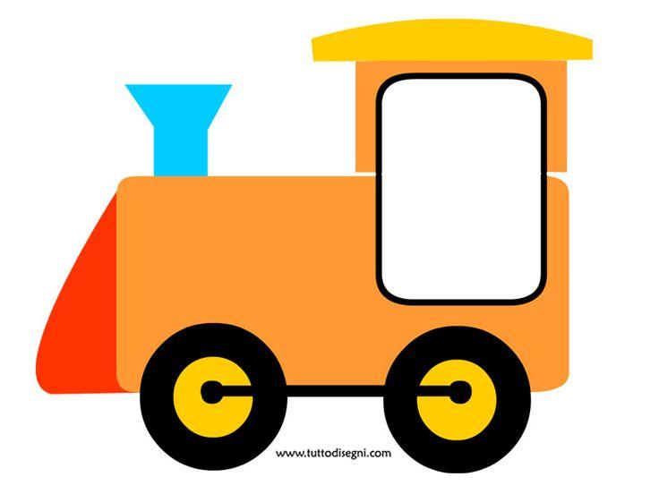 Trenino portafoto - Locomotiva - TuttoDisegni.com