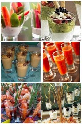 Shot glass appetizers - Cute!