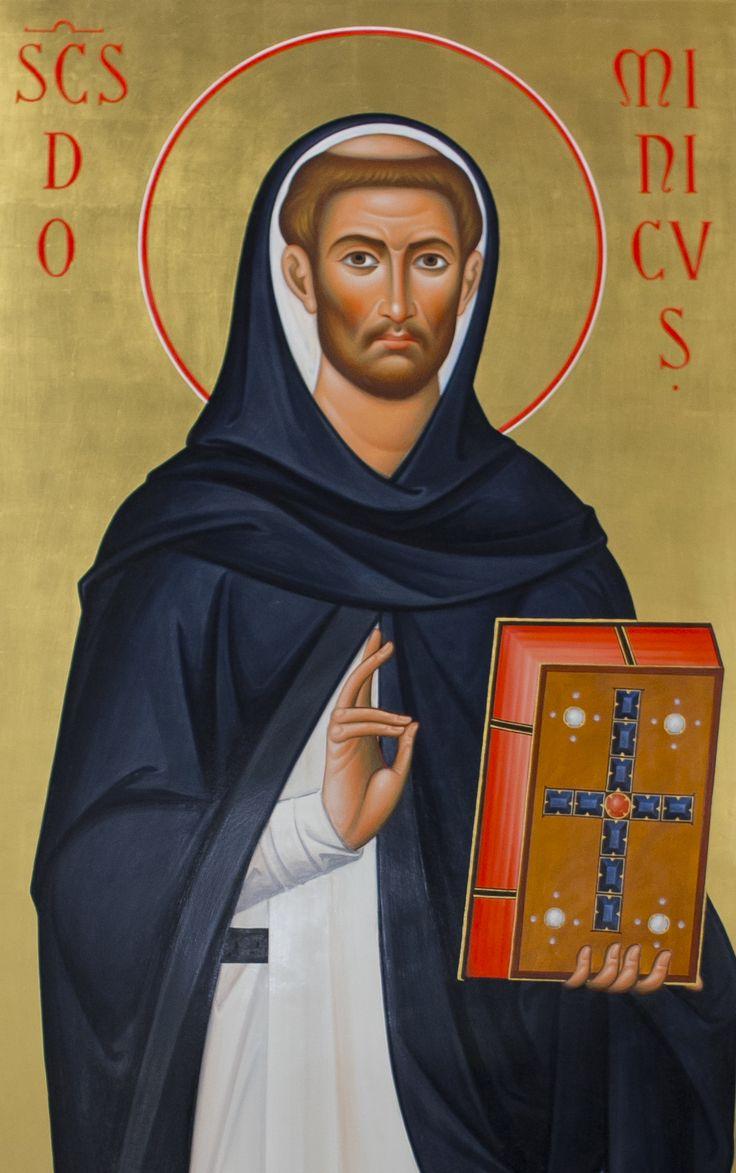 ikona św. Dominika z dominikańskiego kościoła św. Jacka w Rzeszowie  #dominik #dominikanie #ikona #op #modlitwa #guzman
