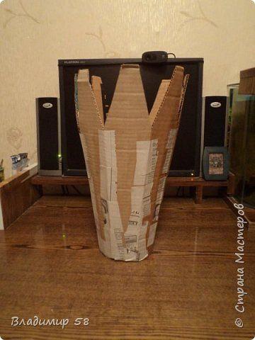 Настольная ваза из картона фото 3