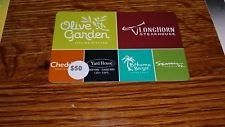 $50 Olive Garden Longhorn Steak House red lobster Gift Card darden group