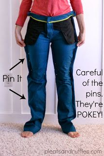 Pleats and Ruffles: Tutorial: How to Take In Pants