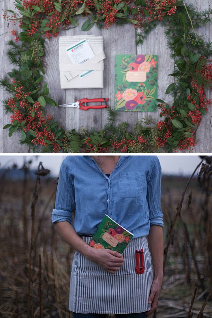 Floret's Farmer-Florist Toolkit contains garden essentials, including a custom apron, flower snips, a garden journal and a surprise pack of seeds.