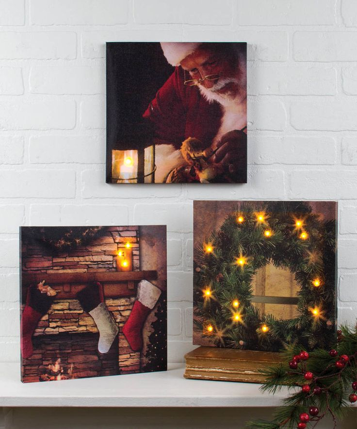 Christmas Light-Up Canvas Set by Ohio Wholesale, Inc. #zulily #zulilyfinds