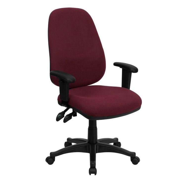 High Back Burgundy Fabric Ergonomic Computer Chair with Height Adjustable  ArmsBest 20  Ergonomic computer chair ideas on Pinterest   Office  . Fabric Computer Chair. Home Design Ideas