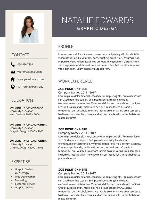 Plantilla De Curriculum Vitae Creativa CV Para