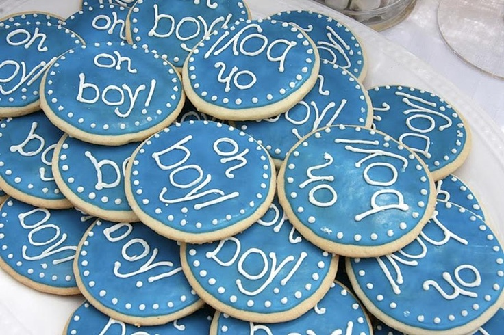 """Sugar cookies for baby shower.. I would do """"Hey Girl!"""" If having a girl."""