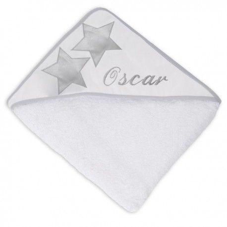 cape de bain star, gris, grey, nanelle, made in france, star