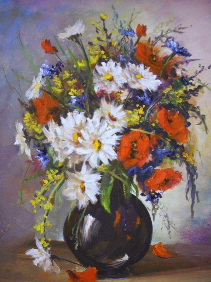 Bouquet de fleurs champetres lallemand yves peinture for Livraison bouquet de fleurs kenitra