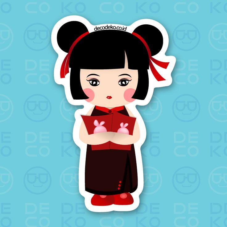 Sticker CNY Girl