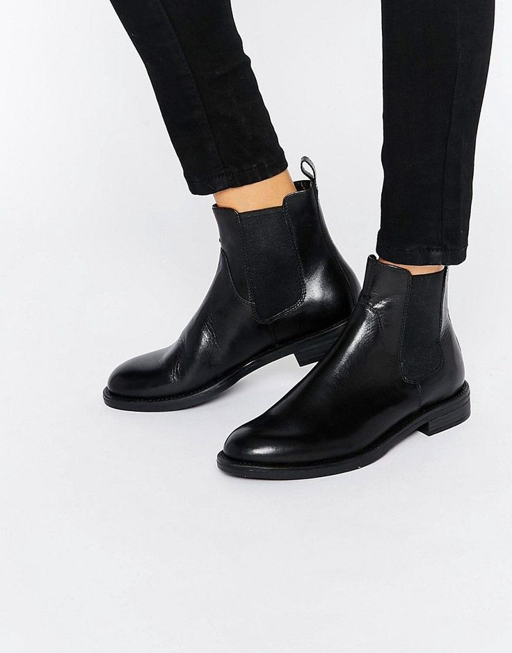 Image 1 of Vagabond Amina Black Leather Chelsea Boots                                                                                                                                                                                 More