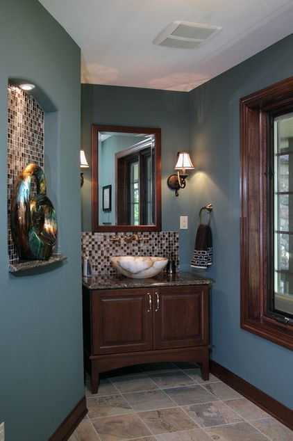 Best 25 blue brown bathroom ideas on pinterest blue - Bathroom color schemes brown and teal ...