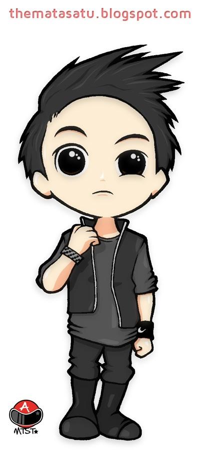 chibi yoseob yoseob chibi cartoon cute black