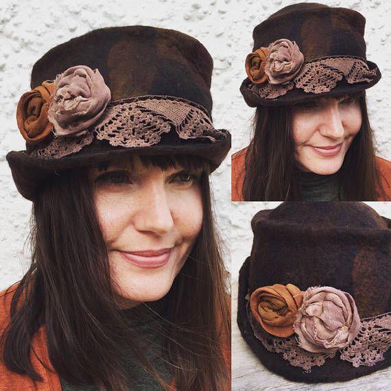Sombrero sombrero-hada de Steampunk fieltro sombrero