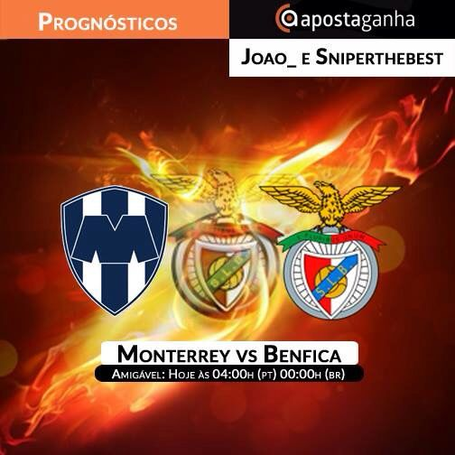 Quem vai conseguir acompanhar o #Benfica nessa madrugada? Os #portugueses enfrentam os #mexicanos do #Monterrey  #amigavel #slbenfica #apostas #futebol #apostasonline #SL_Benfica #rayados #CarregaBenfica #EusébioCup #slb #ApostaGanha #apostasesportivas #bets #soccer   #sportsbetting #footy #football #footballmatch #futbol