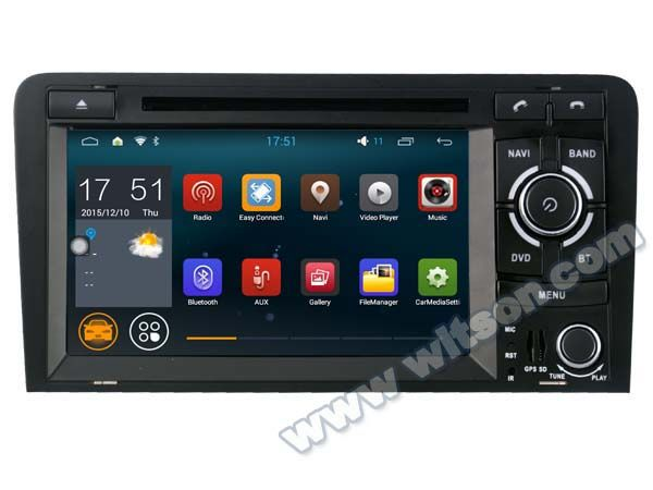 """car Autoradio 7"""" Quad Core Android 5.1.1 OS Special Car DVD for Audi A3/S3/RS3 2003-2012 with External DAB+ Receiver Box Support"""