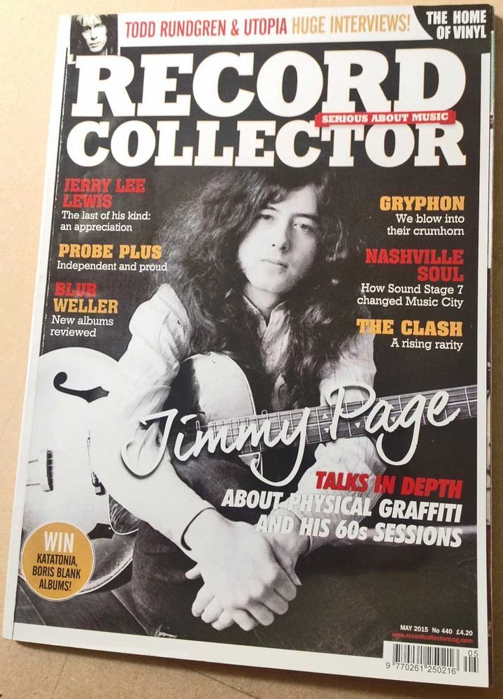 LED ZEPPELIN Record Collector 440 Jimmy Page Clash Gryphon Rundgren Jerry Lee