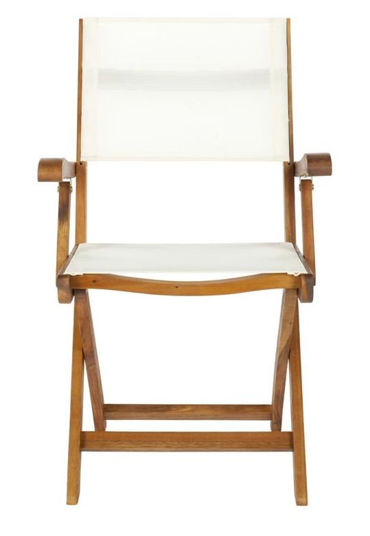 Safavieh's Banji folding arm chair brings transitional style to the great outdoors. This classic design is portable for picnics and tailgate parties, and Hollywood-hip on the patio. FOX6009A